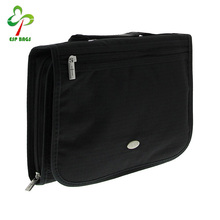 Three-fold premium polyester bible bag with carry handle, sturdy bible cover with zipper compartment