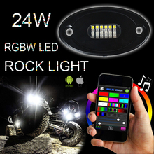 RGB min 12v 24W Offroad LED Rock Light, Multifunction Led Tail Dome Light, 4X4 Car Led Side Marker Lamp