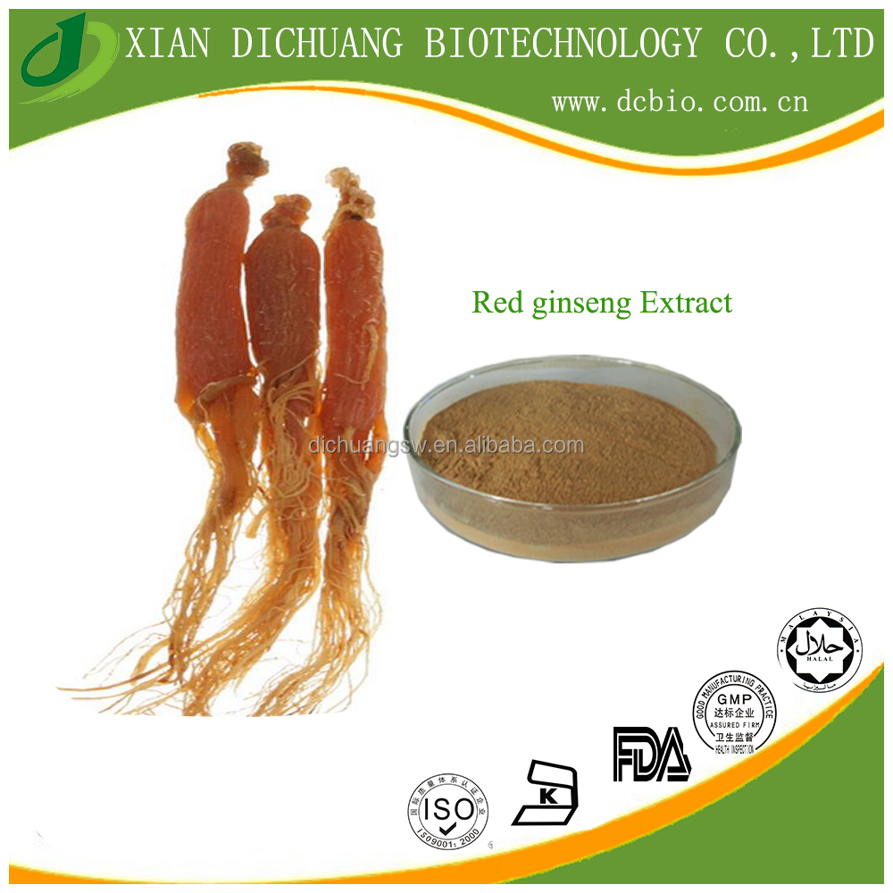 factory supply natural korean red panax ginseng root extract powder ginsenoside 80
