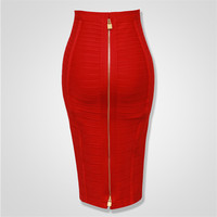 Top Quality Sexy Bodycon Knee Length Back Zipper Bandage Skirt Women Tight Club Pary Fashion Skirt