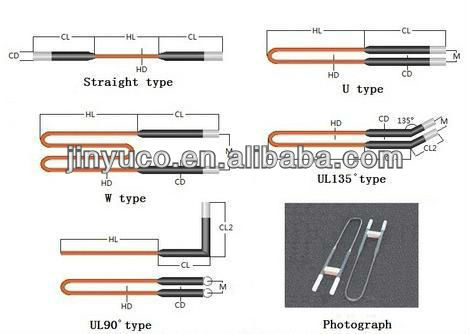 Thermoelectric generator MoSi2 heaters molybdenum disilicide heating elements (I,U,slot type)