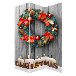 2017 supplier christmas room divider with light up candle beautiful garland