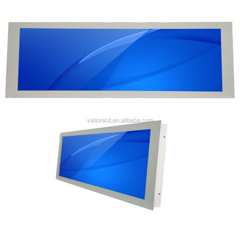 VS-290HD 699x232 29.0 inch Stretched Bar LCD Monitor Android LCD signage with embedded type housing for vehicle display