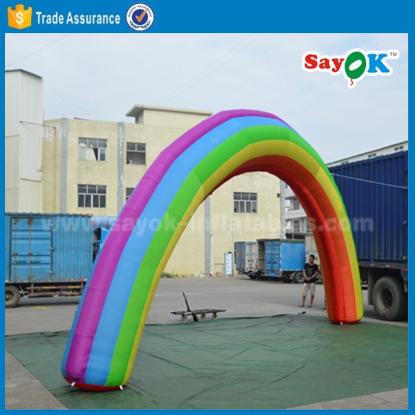 inflatable rainbow arch customized cheap inflatable arch for sale