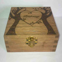 Luxury Personalized Dovetail Wooden Gift Box with Flip cover
