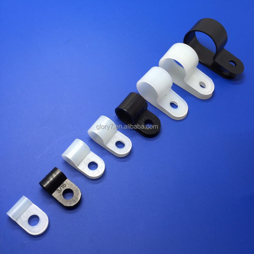 R style Mountable clamp electrical wire cable mounting clips