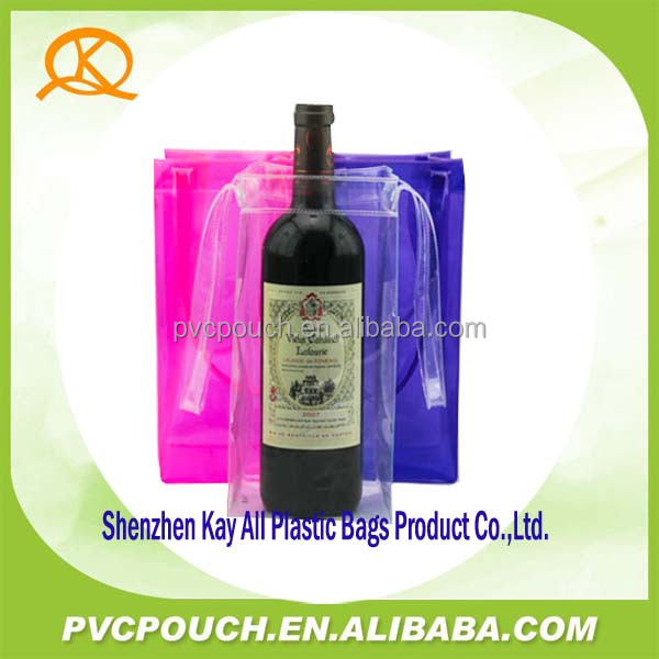 China suppliers product clear pvc wine cooler bag