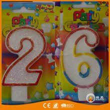 wholesale birthday candle hot selling 12345candle Birthday figure candle