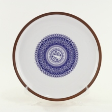 Ceramic Kitchenware characteristic Decal Design <strong>Plate</strong> Dinner <strong>Plate</strong> Round Flat <strong>Plate</strong>