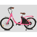 Lark pink electric bicycle for lady green power electric bike