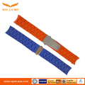 High grade Metal bead silica gel strap 22mm watch band stainless steel