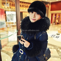 Big Raccoon Fur Collar and Sleeve Cuffs For Women Winter Jacket Coat Detachable Real Fur Trim