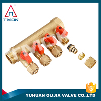 4 way cw617n/hpb57-3/hpb57-4 6000psi valve manifolds brass water manifold valve