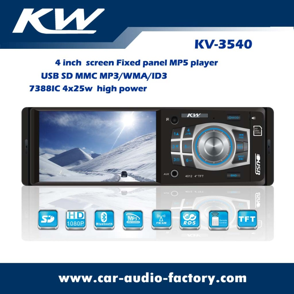 4.2 inch car stereo usb mp4 player with fm am receiver & bluetooth