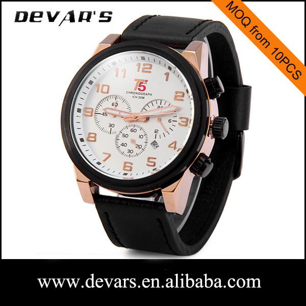 Alibaba China top 100 watches brand Devars high quality mens quartz watches