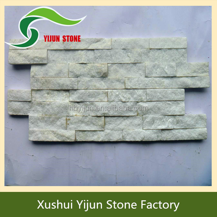 High Quality Ledged White Natural Quartz Stone