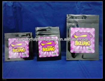 Bizarro zenbio brand herbal-incense-zipper bags1.5g.3.5g.10g