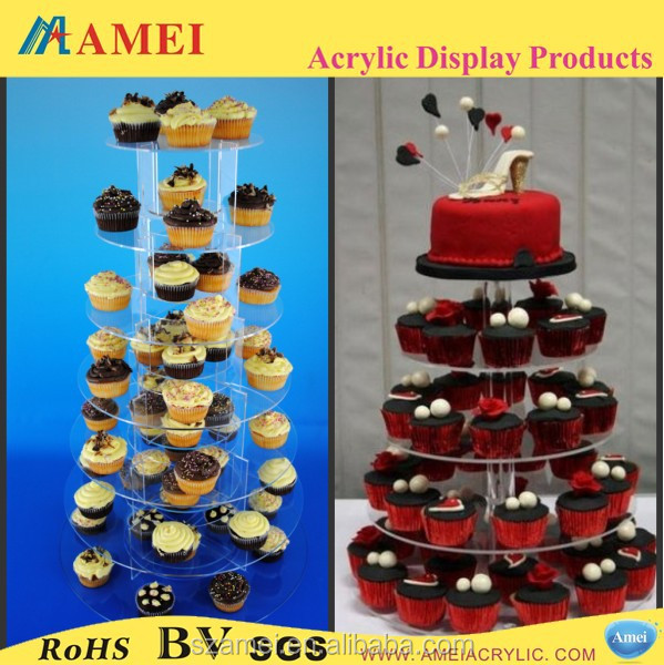 2014 best selling acrylic cake stand/lighted acrylic cake stand
