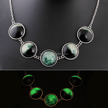 Fashion Jewelry Handmade Space Gem Necklace Light In The Dark