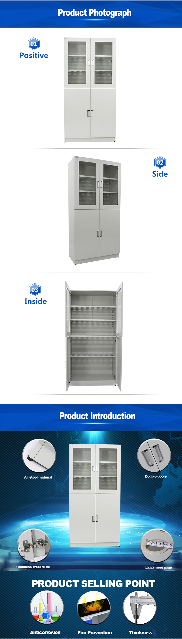 medical stainless steel cabinet,chemical steel metal storage cabinet