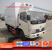 3-5ton RHD freezer box truck, refrigerated truck, dongfeng freezer truck for sale