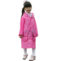High quality Kids Cartoon Rain Ponchos With Logo Pink Rain Poncho Rain Kids Poncho
