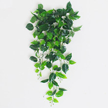 Artificial vines green plant leave ivy vines wholesale for wall hanging decoration