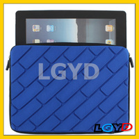 New product 3D Effects Style Protective Close Soft Bag for iPad 4 with Dual-Zipped /for New iPad /for iPad 2