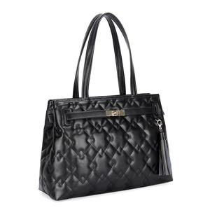 Factory price branded lady genuine leather handbag black tote bag f0ee8037277f1
