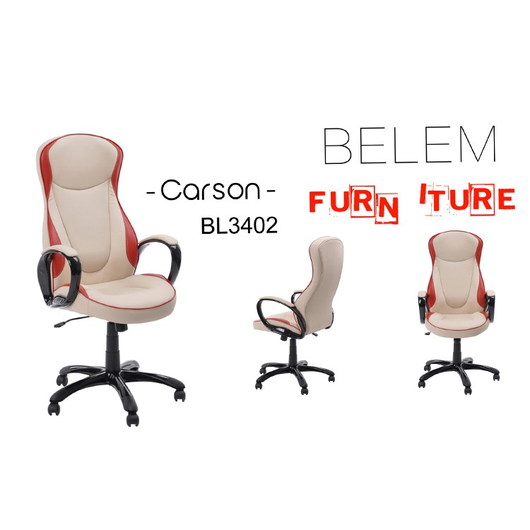 2018 Boss Executive PU Office Chairs -Carson-BL-3402