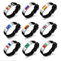 2018 New Fashion Ball Fans Wristband Black Punk