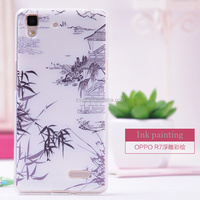 for oppo r7 unique Transparent clear Phone Case , stylish mobile cover and designer case