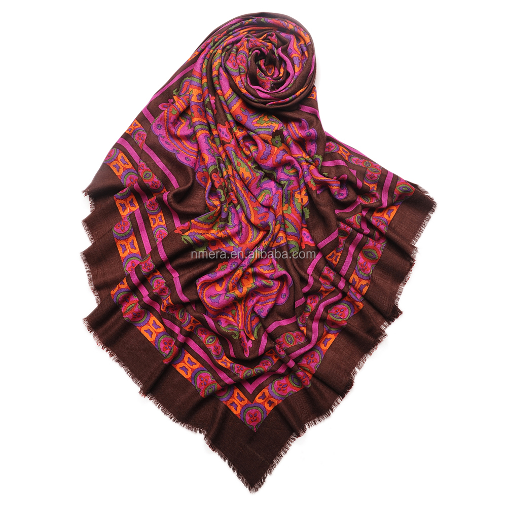 swr0024 turkish square scarf wholesale big wool square scarf Chinese traditional printed scarf