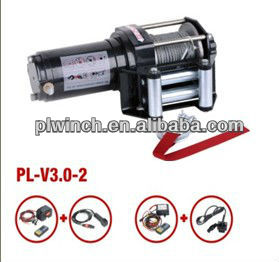 hand operated winch hot sale 12v portable winch 3000lb capacity