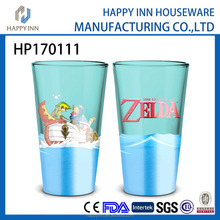 HP170111 Carton design supply factory price 14 oz printed glass water mug