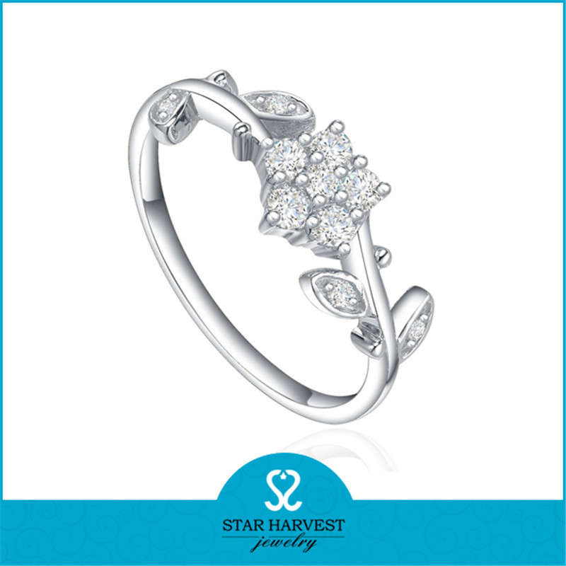 2015 wholesale silver engagement ring price for women