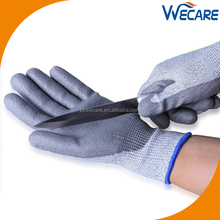 Anti Slip Resistant Hand Protective Industrial Safety Work Polyurethane Coating Cut Proof Gloves For Sale