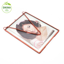Trinket cube square rectangle enevlope picture display box gifts favor wedding , brass glass christmas funny face photo frame