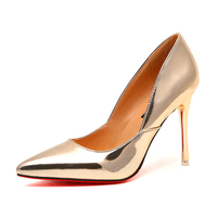 latest high heel shoes for girls brand new design gold ladies party shoes high heel ladies pumps