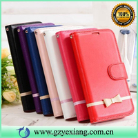 Wholesale popular flip wallet leather cover for Samsung note 3 pu leather case with butterfly knot card holder