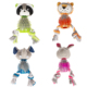 wholesale manufacturer cute plush rope chew indestructible pet dog toys