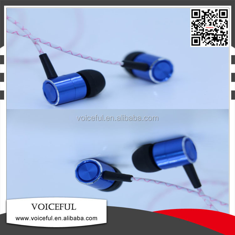 VFE-1615 metal in-ear earphone with MIC for portable player with CE/Rosh certification voice to skull