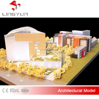 architectural design scale models for large size villa planning