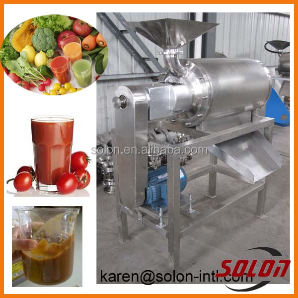 Low price stainless steel spiral small tomato paste machine / fruits vegetable paste processing machine