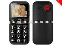 W60 1.77inch big boutton with sos Bar elder senior cell mobile phone