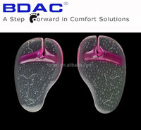 sticky pu gel forefoot metatarsal pad insole for flip flops