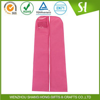 Cheap non woven garment bag/Customzied printed wedding dress garment bag