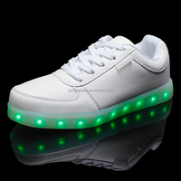 The latest popular fashion factory customized unisex breathable luminous led shoes