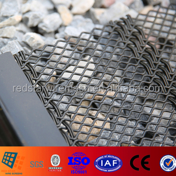 Crushing and Screening high carbon steel crimped wire mesh for Marble Granite Limestone