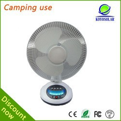 12inch 12W rated power solar table fan